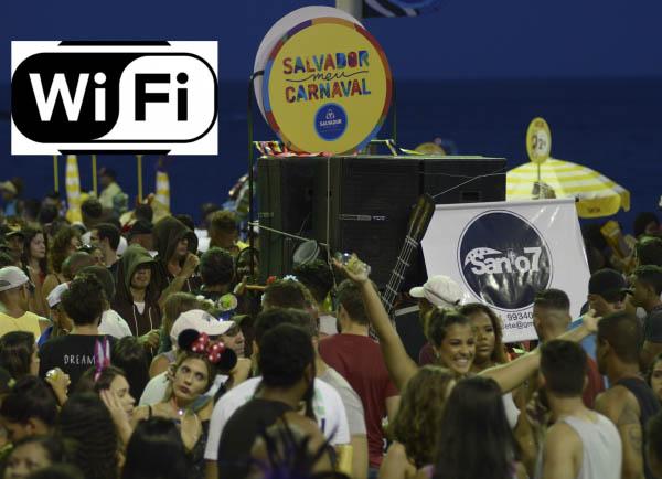 Wi-fi no circuito do carnaval em Salvador