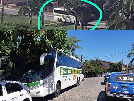 Polícia Militar apreende onibus da Gontijo em Ipiaú
