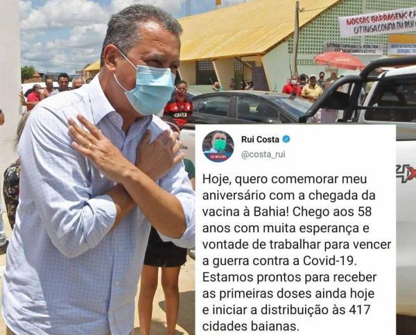 A Bahia pode começar a distribuir a vacina ainda hoje