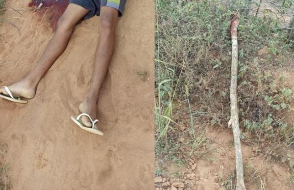 Rapaz morto a pauladas na Zona Rural de Bom Jesus da Serra